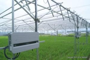 伊豆の国・ソーラーシェアリングのパワコン(オムロン・KP55M)