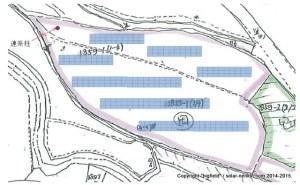 BFエナジー太陽光発電所4号基(予定)パネル配置図(暫定)