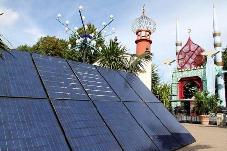 Solar Panels Tivoli Gardens in Copenhagen