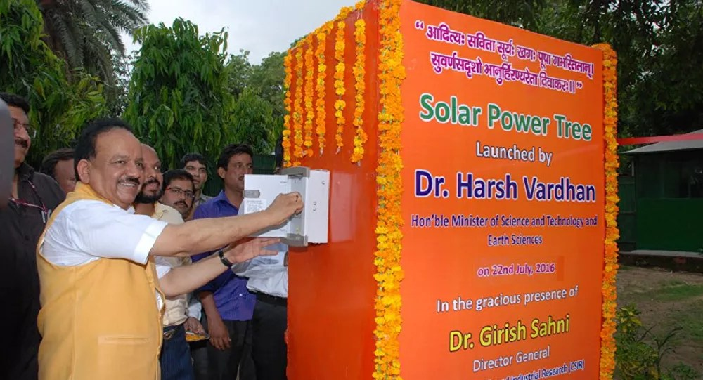 Solar Power Tree From India Makes More Energy From Less Space
