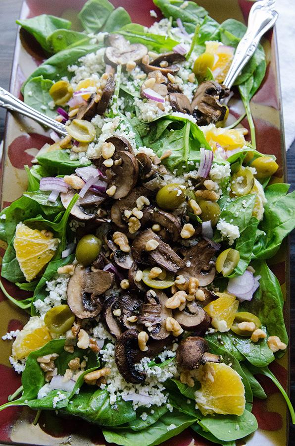 Paleo Roasted Mushroom Salad