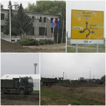 Le camp à Slavonski Brod