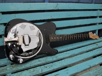"Black and Chrome Sollophonic with Hotrail pickup. Great guitar, sweet playing and sounding, now with a new owner who says ""It's brilliant. I'm very pleased!!"