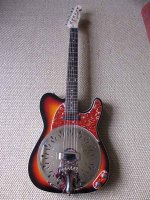 """Sunburst with matching red torty pickguard and control plate. A great combo. New owner says""""Guitar looks even better than the photos. Neck is great and set up perfect, just right for slide and not too high for fingerpicking. Sounds great unplugged andsuperb through the amp. I am really pleased, thank you very much for your excellent service"""""""