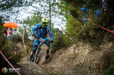 Scott Laughland on stage eight. EWS round 7, Ainsa, Spain. Photo by Matt Wragg.