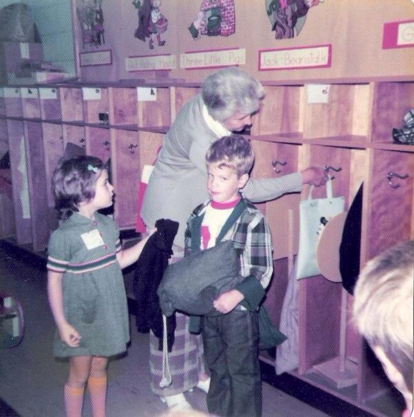 Stu and Me on Our First Day of Kindergarten, Harris Hill Elementary, Clarence, N.Y., 1975