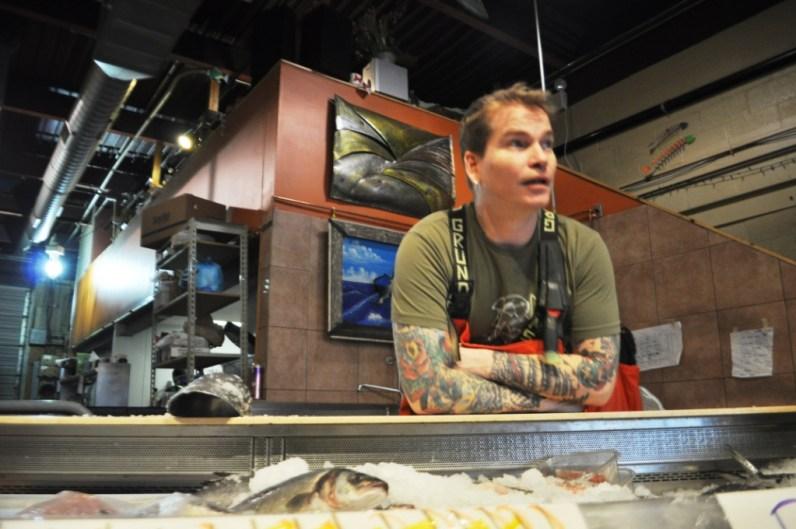 Penn Avenue Fish Company Head Fishmonger, Timmy Reynolds
