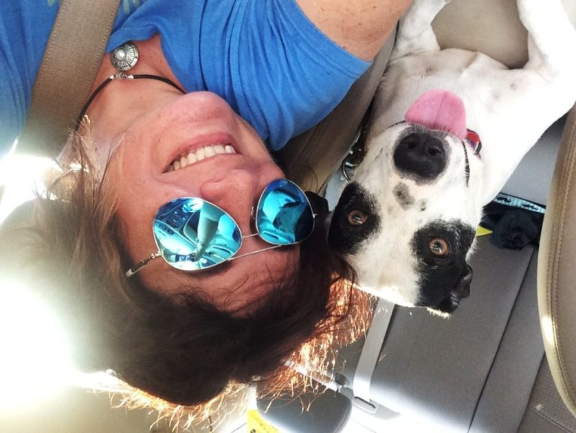Radcliff and I After a Trip to the Dog Park Following Being Diagnosed with Myasthenia Gravis. #LoveRadcliff