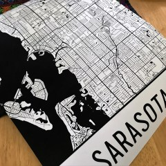 MTV's Siesta Key Will Put Sarasota on the Map. And Modern Map Art Has the Map.