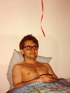 Stevie Adamek topless in bed