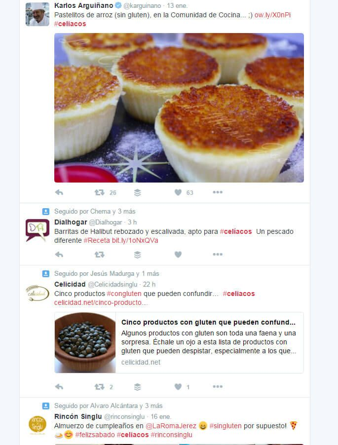 Herramientas de Marketing hashtag #celiacos