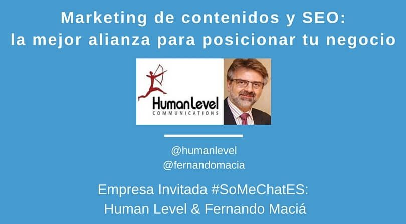 Alianza entre Marketing de contenidos y SEO - Twitter chat Fernando Maciá