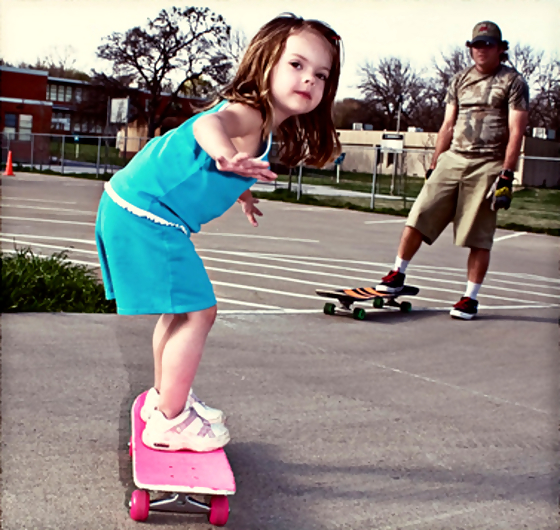 child-skateboarder