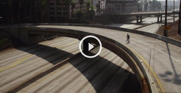 Vídeo hipnotizante mostra como seria andar de skate em uma Los Angeles abandonada