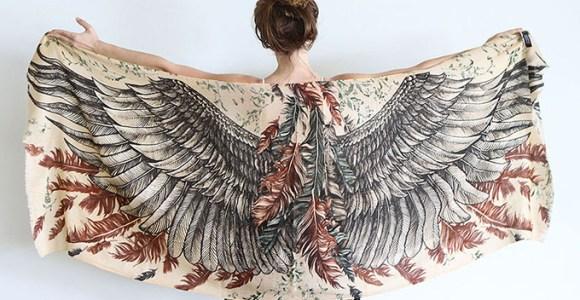 A intenção desses lenços é dar asas a quem usá-los