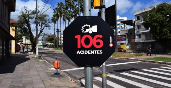 Intervenção urbana alerta para a quantidade excessiva de acidentes em ruas do Rio Grande do Sul