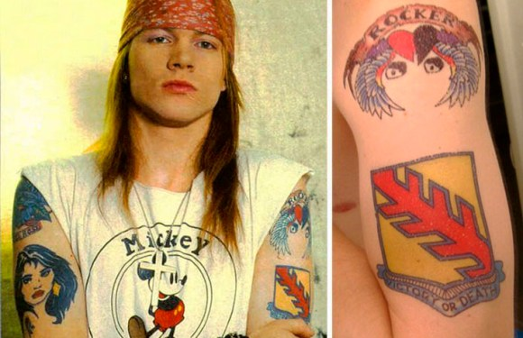 Tatuagem famosos - Axl Rose