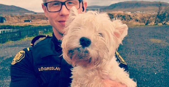 A polícia da capital islandesa é pura simpatia no Instagram