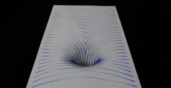 Jovem desenhista brasileiro faz incríveis desenhos 3D usando linhas
