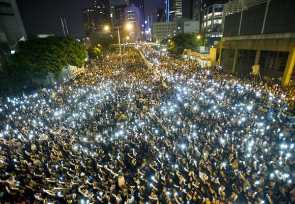 """""""TOPSHOTS 2014-HONG KONG-CHINA-POLITICS-DEMOCRACY"""""""