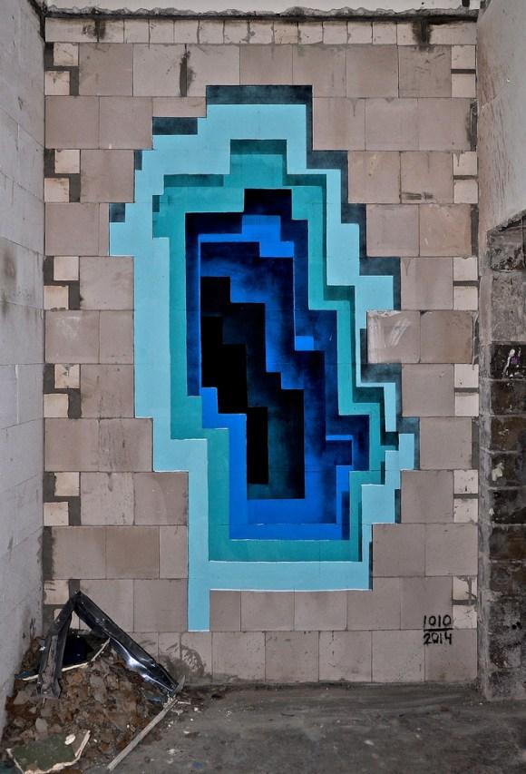 Grafite - buraco 3D 8