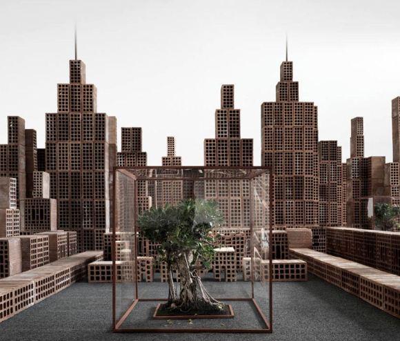 Maquete de cidade com tijolos 8