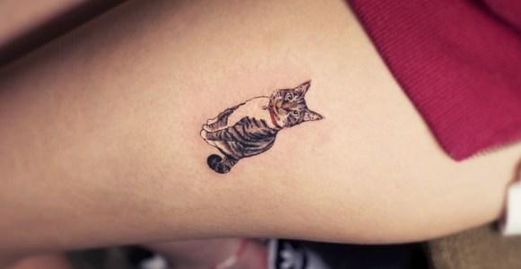 Tatuagens inspiradoras para pessoas realmente apaixonadas por gatos