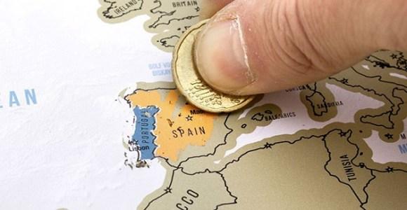 """Marque os países que já visitou com este """"Mapa Raspadinha""""!"""