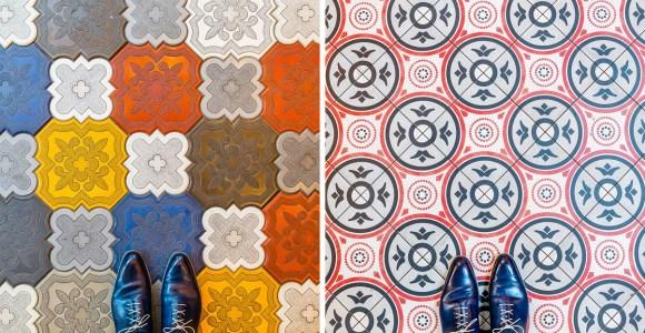 Fotógrafo atento não deixa escapar a beleza dos pisos de Barcelona