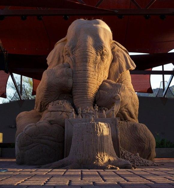 Escultura de areita - elefante 1