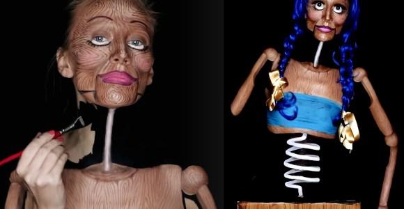 Artista usa pintura corporal para criar ilusões fantásticas