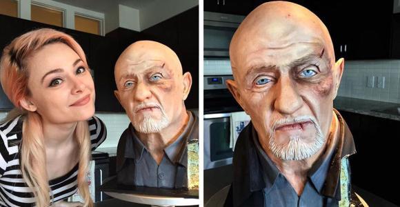 Isso é um bolo extremamente realista do personagem Mike, de Breaking Bad