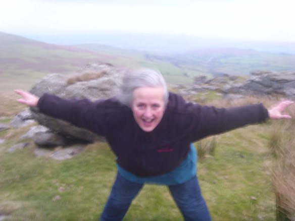 Free-falling on Roos Tor.