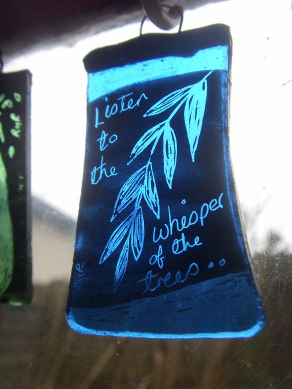 Bought earlier in the year from stained glass artist - Rachel Ravelle.
