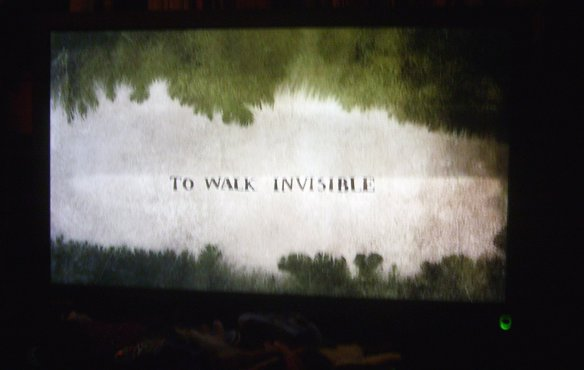 'To Walk Invisible' on my telly.