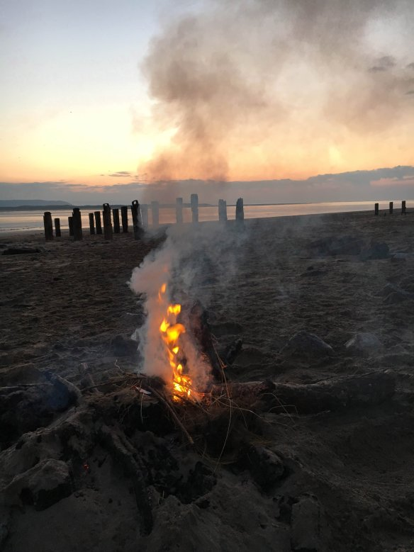 Campfire Crow Point Beach - Braunton. Something about Dartmoor