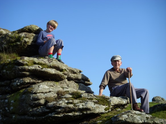Many happy days on Dartmoor remembered. With Tom in 2008.