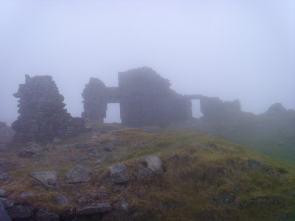 Ruins at Foggintor on a suitably fogbound day. Sunday 19th. March 2017