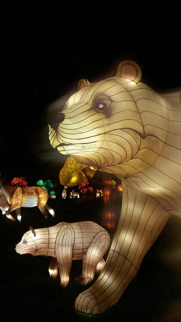Longleat Festival Of Light. Goldilocks - Mummy and Baby Bear (1)