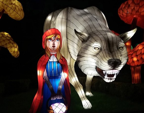 Longleat Festival Of Light. Red Riding Hood