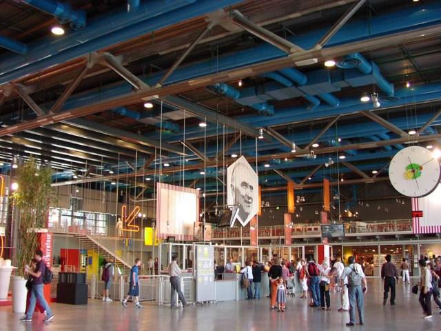A view of the interior of Centre Pompidou, Paris