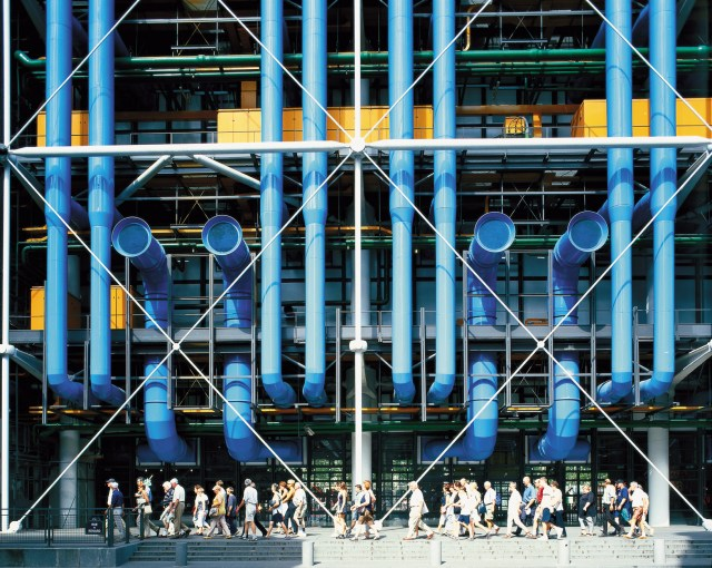 Richard Rogers and Renzo Piano's Pompidou Centre, Paris, 1977 (via Rogers Stirk Harbour + Partners)