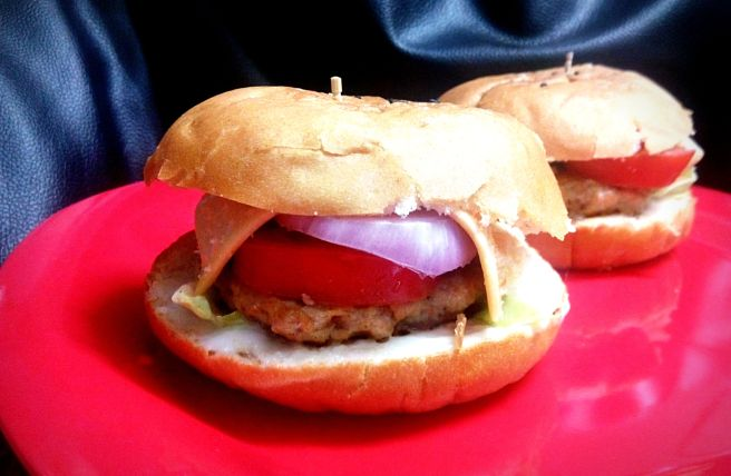 simple chicken burger
