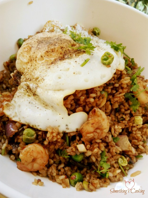 Thai Fried Rice with Prawns and Peas2
