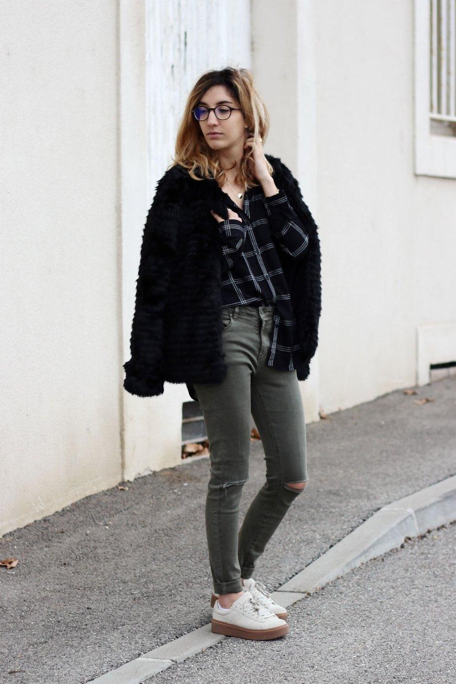 blog-mode-look-manteau-fausse-fourrure-jeans-kaki
