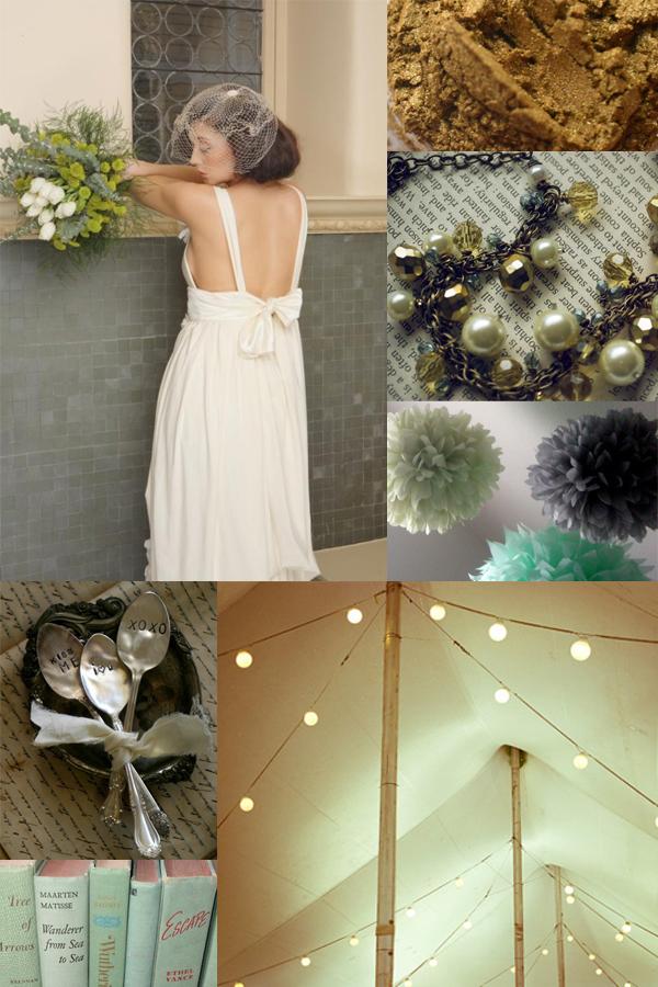 sage and gold wedding inspiration