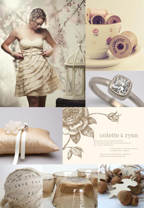 cream wedding inspiration board