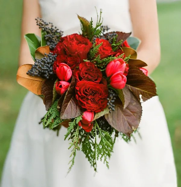 red cabbage rose bouquet