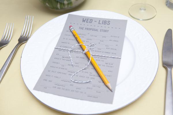 DIY wedding mad libs free printables