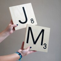 DIY | giant scrabble tile table numbers
